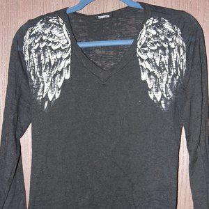 4/$20**Cotty On Sheer long sleeve v-neck